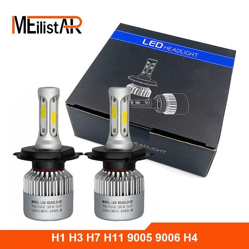 Car light COB Chip H4 H13 9004 9007 Hi-lo Beam H7 9005 HB3 9006 HB4 H11 H9 H1 H3 9012 Auto LED Headlight Bulb 8000lm 12V 6500k  isincer g5 h4 h7 h11 h13 9005 9006 h1 9007 cob led car headlight bulb hi lo beam 110w 16000lm 6500k auto headlamp 12v fog lights