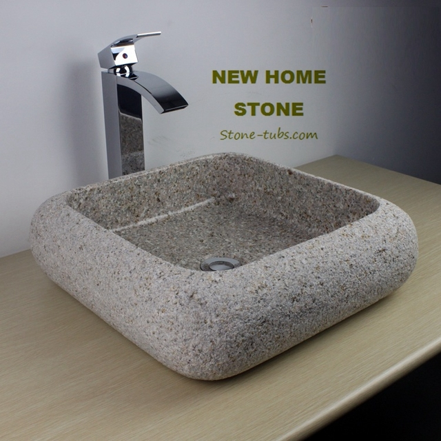 Small Vanity Sink Modern Natural Stone Bathroom Vessel Sink Made By