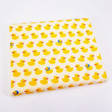 1pcs lovely duck pattern Fabric Meters for Patchwork Quilting Baby Cribs Cushions Blanket Sewing Material 50x40cm(China)