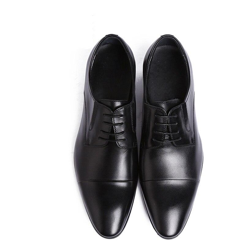 Alta Encaje Cuero Hombres Auténtico Zapatos marrón Negro Calidad De Moda Herenschoenen Los Mycolen Planos Transpirable xv0dqvzX