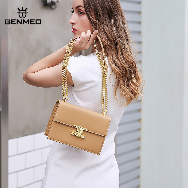 GENMEO New Arrival Cow Leather Women Bags Female Luxury Handbag with Shoulder Strap Bolsa FemininaGENMEO New Arrival Cow Leather Women Bags Female Luxury Handbag with Shoulder Strap Bolsa Feminina