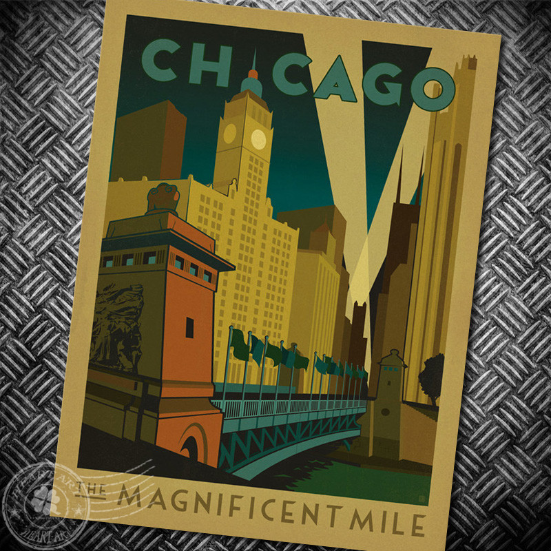 compare prices on vintage chicago poster online shopping With best brand of paint for kitchen cabinets with where to buy chicago city sticker