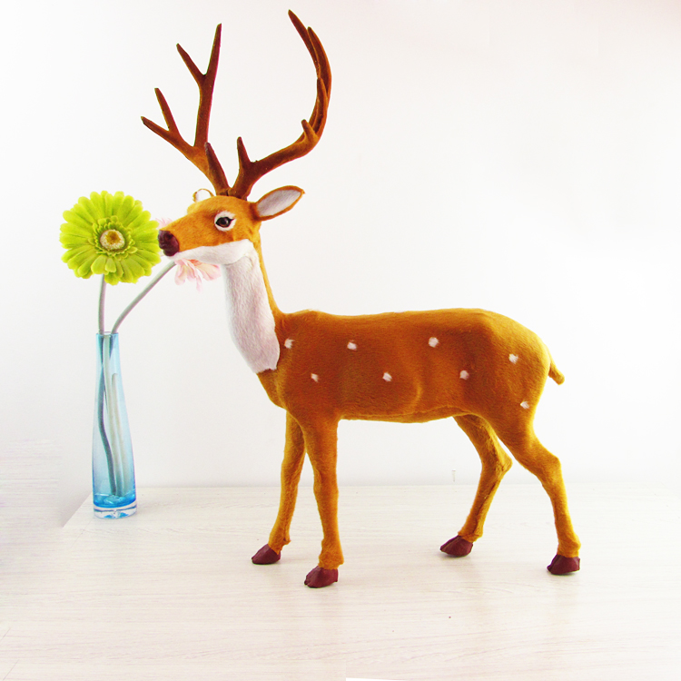 lovely simulation big deer toy lifelike sika deer model gift 43x57cm lovely big simulation creeping cat plastic