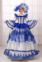 European Court Dress Retro Luxury Stage Uniform Halloween Queen Dresses Make Up Party Dress Formal Event Clothing
