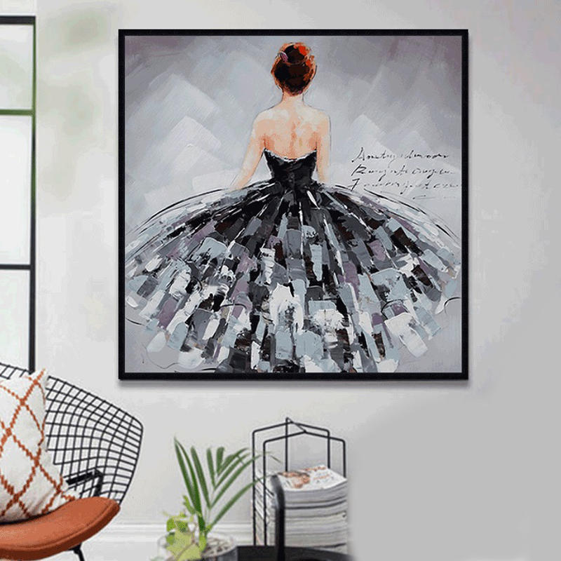 Print Oil Paintings Art Posters Black Swan Dancer Wall Art Canvas Painting Pictures For Living Room Nordic Artwork Desk Decor in Painting Calligraphy from Home Garden