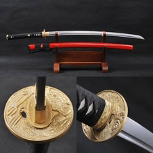Vintage Home Decor Fully Handmade Damascus Folded Steel Samurai Sword Battle Wrapped Japanese Katana Practical Sharp Edge Knife
