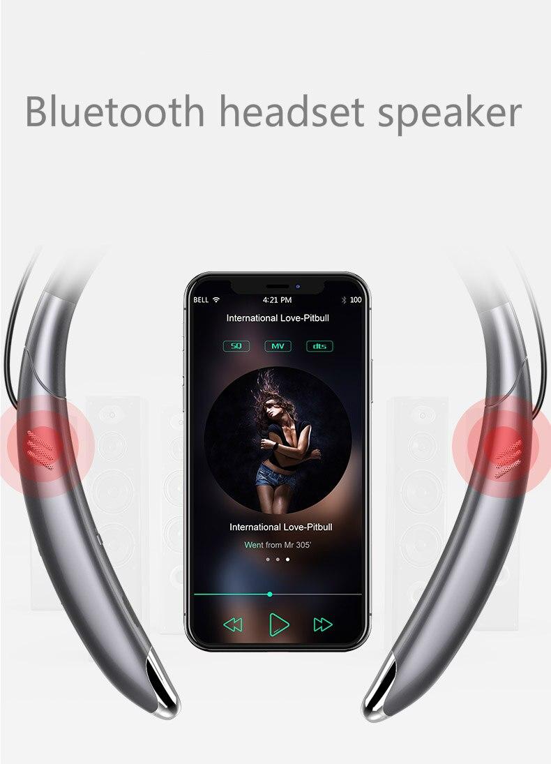 Hot Top Speaker Bluetooth Headset V8 Sport Neck Speaker Speaker Stereo Headphone FOR iphone sumsang sony HTC