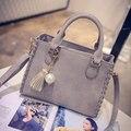 2017 ladies hand bags women leather handbag tassel vintage bag women-messenger-bags luxury handbags women bag designer