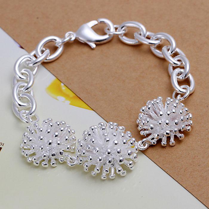 Bright 925 Jewelry Silver Plated Bracelet, 925 Jewelry Jewelry Fireworks Bracelet H014 Agreeable Sweetness