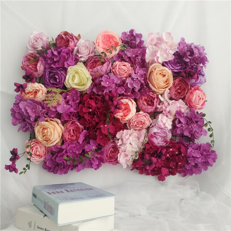 Artificial flowers miss rose wall wedding decor flower wall wedding Home backdrop decoration peonies Hydrangea silk Flower