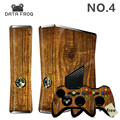 Protective Film Waterproof Decal Brown Wood Pattern For Microsoft XBOX 360 Slim Console Skin Sticker Controller Cover 6 Designs