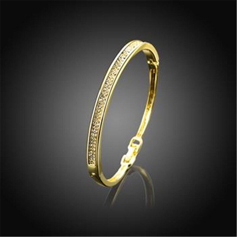 Браслет Дизайн для Для женщин Мода Сейф Пряжка Стиль изделия из розового золота Цвет ювелирные изделия золото Чехия дрель