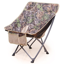 Load 120kg Outdoor portable folding chair backpack mini backrest fishing moon chair director sketching lazy beach camping chair
