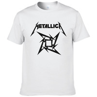 Summer Fashion Mens Heavy Metal Rock Metallica T Shirt Men Short Sleeve Rock Classic Cotton T