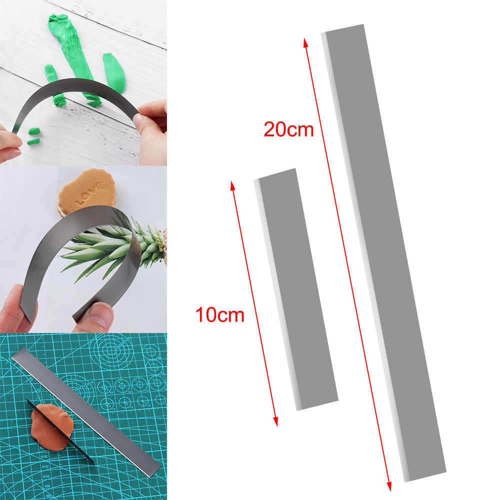 1Pc DIY Pottery Flexible Stainless Steel Clay Polymer Clay Cutter Blade Ceramic Tools Modeling Fabric Art Sculpting Fimo Slicer