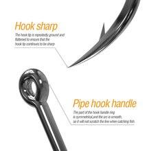 Fishing Hooks Set Carbon Steel Single Circle Fishhook 100pcs