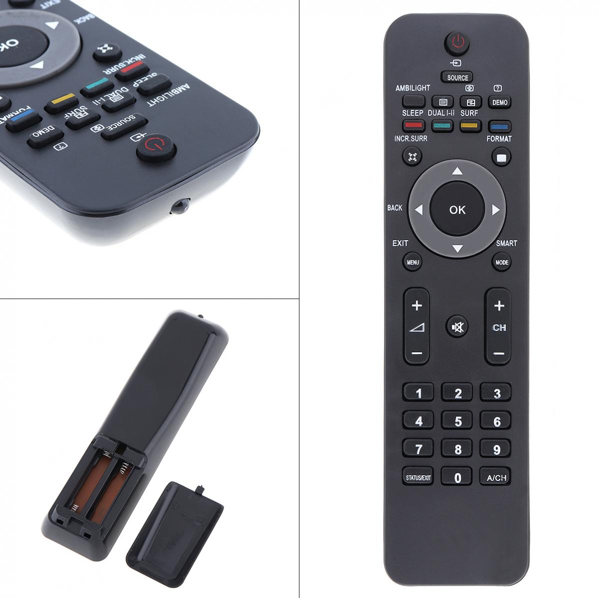 LCD LED TV Remote Control Replacement with Long Transmission Distance for  Philips 52 / 47 / 42PFL7704D