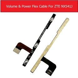 Genuine power & volume cabo flexível sidekey para zte nubia n1 nx541j volume & interruptor de botão de energia flex fita peças de reposição