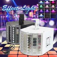 Black/White 6W RGB Automatic / Voice Control DMX512 LED Stage Lights Night Light 3 Mode DJ Disco KTV Party Stage Fantasy Effect