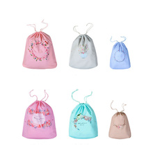 JULY S SONG 12pcs set Flower Waterproof Drawstring Pouch Storage Bags Makeup Cosmetic Underwear Travel Accessories