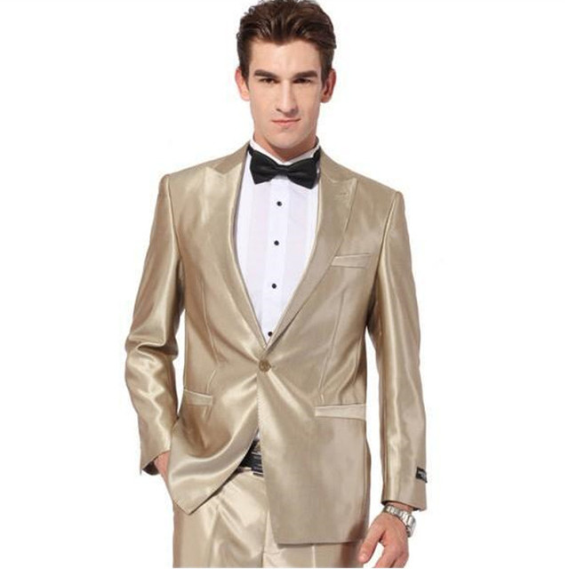 Jackets+Pants+Vest ) Men Suits Slim Blazers Tuxedo Groom Prom Purple ...