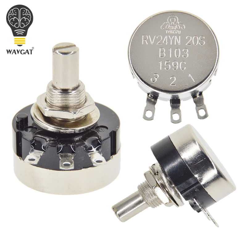 10PCS B103 16x2mm 10K Ohm Single Dial Taper Volume Wheel Single Potentiometer BH