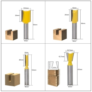Image 5 - 12pcs/Set Woodworking Milling Cutters 6.35mm/8mm Shank Carbide Router Bit For Wood Engraving Cutting Tools