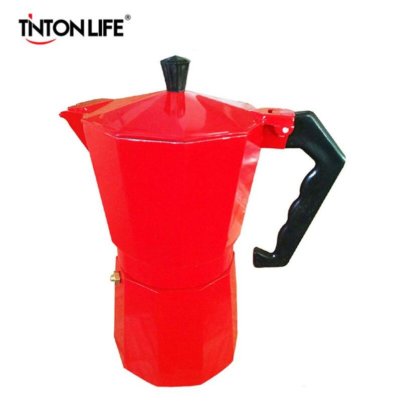 3 colors Italian Stove top/Moka espresso coffee maker/<font><b>percolator</b></font> pot tool <font><b>9</b></font> <font><b>cup</b></font>