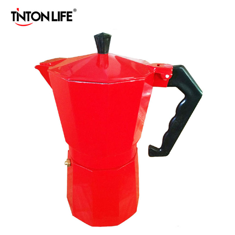 TINTON LIFE 3 Colors Italian Stove Top/Moka Espresso Coffee Maker/Percolator Pot Tool 9 Cup home appliance 2 4 6 9 cups coffee maker pot for household stainless steel moka coffee latte percolator stove coffee pots