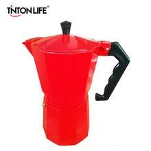 TINTON LIFE 3 Colors Italian Stove Top Moka Espresso Coffee Maker Percolator