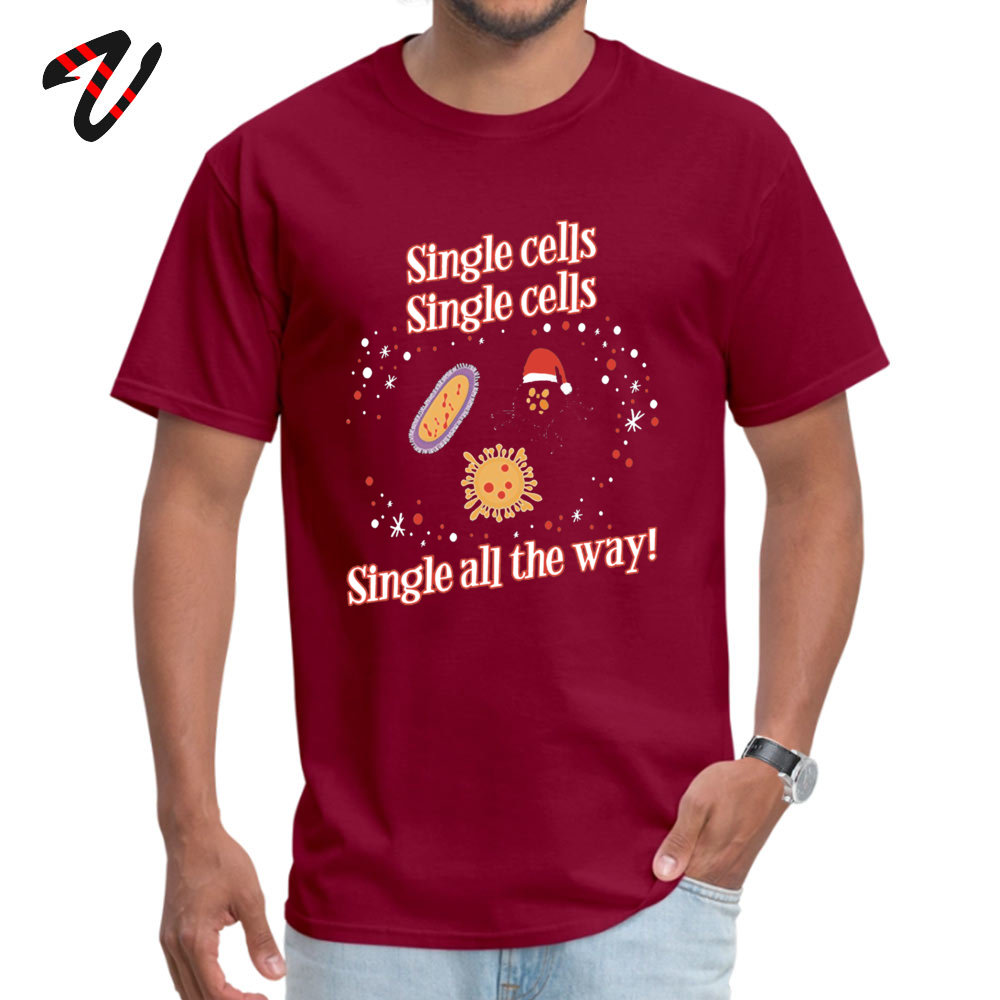 Fashionable Normal Leisure Short Sleeve _black T Shirt Summer/Autumn Round Neck Cotton Tops Shirts for Men Top T-shirts Casual Funny Christmas Biology T Shirts Gifts for Wom maroon