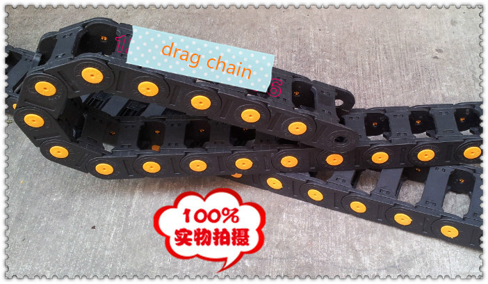 цена на Internal Size 35x100mm Colsed Cable Drag Chain  Yellow Point Industrial  Plastic Nylon towline strengthened plastic towline