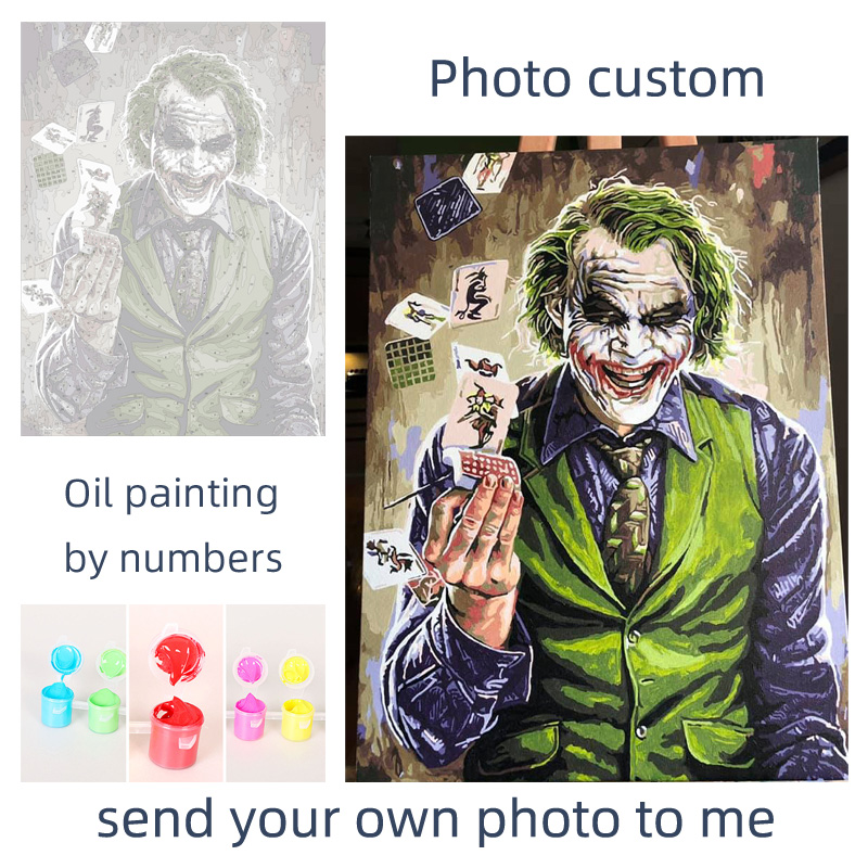 Personality Photo Customized DIY Painting By Numbers Picture Drawing Coloring by Numbers Acrylic cat adult with Personality Photo Customized DIY Painting By Numbers Picture Drawing Coloring by Numbers Acrylic cat adult with frame