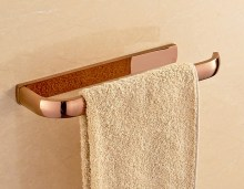 Wall Mounted Luxury Polished Rose Gold Brass Bathroom Single Towel Bar Towel Rail Holder Bathroom Accessory mba868 стоимость