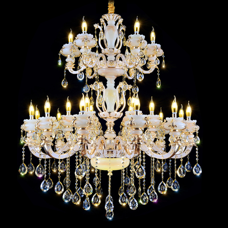 Фото European style chandeliers LED Crystal Chandelier Ceiling Gold Luxury Crystal Chandelier Large Crystal Light Flush Mount Lamp