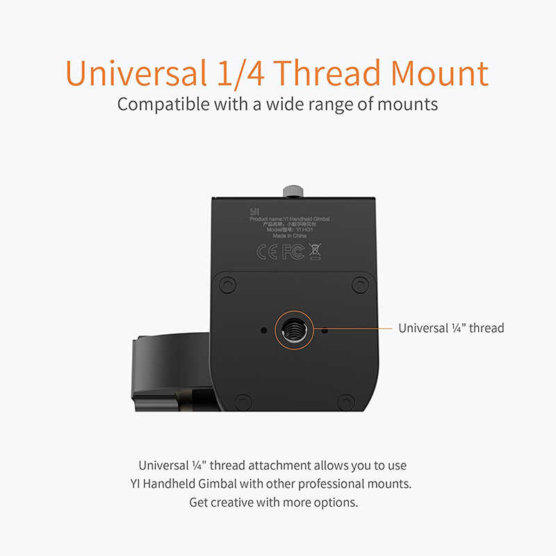 Ручной Стабилизатор YI 3-осевая панорама/наклон/рулон ручное управление Настройка 320 градусов Компактный и легкий