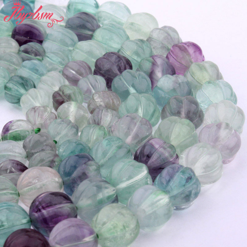 DIY fluorite filling for glass hollow beads