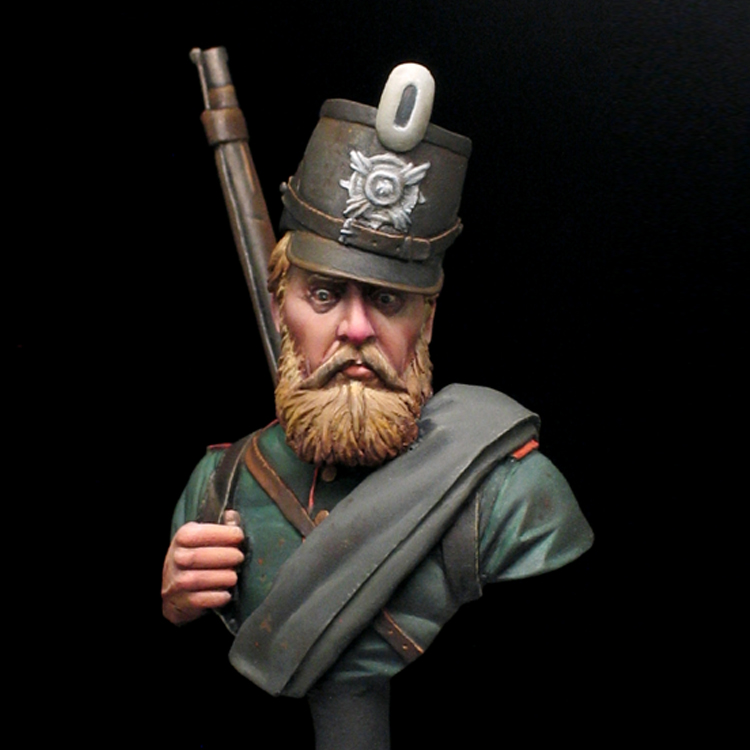 1/16 Resin Bust Resin  Kit Flankenfeuer-le-bourget-1870 X148G