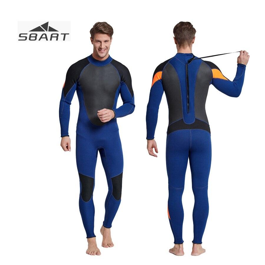 Sbart Hommes Combinaison Néoprène Mergulho 3mm Patchwork Surf Chasse Sous-Marine Maillot de Bain Plongée sous-marine Équipement de Plongée Costume