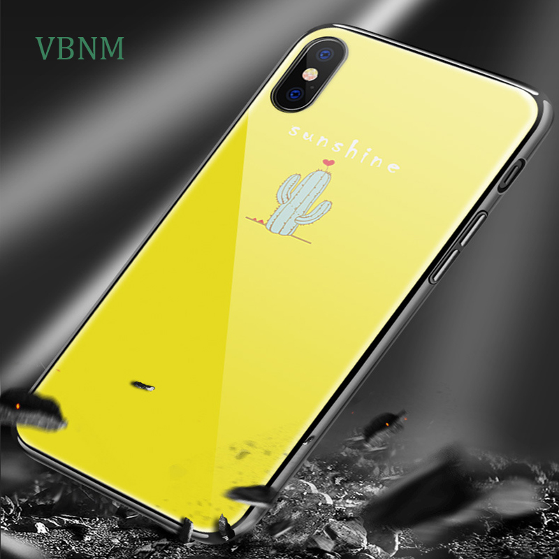 VBNM Featured graphics for iphone 7 case tempered glass iphone X mobile case new painting iphone 6 protective cover