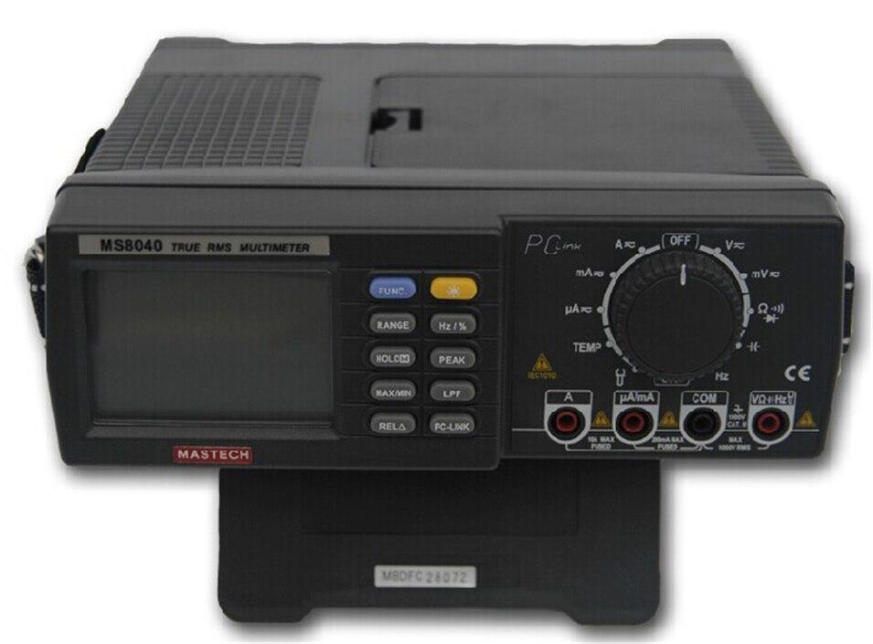 22000 графы AC DC Напряжение ток Авто Диапазон Bench мультиметр True RMS низких частот фильтрации с RS 232 Интерфейс MASTECH MS8040