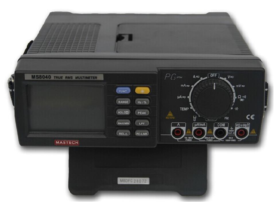 22000 Conti AC DC Tensione Corrente Auto gamma Banco multimetro A Vero RMS filtro passa-Basso Con Interfaccia RS-232 MASTECH MS8040