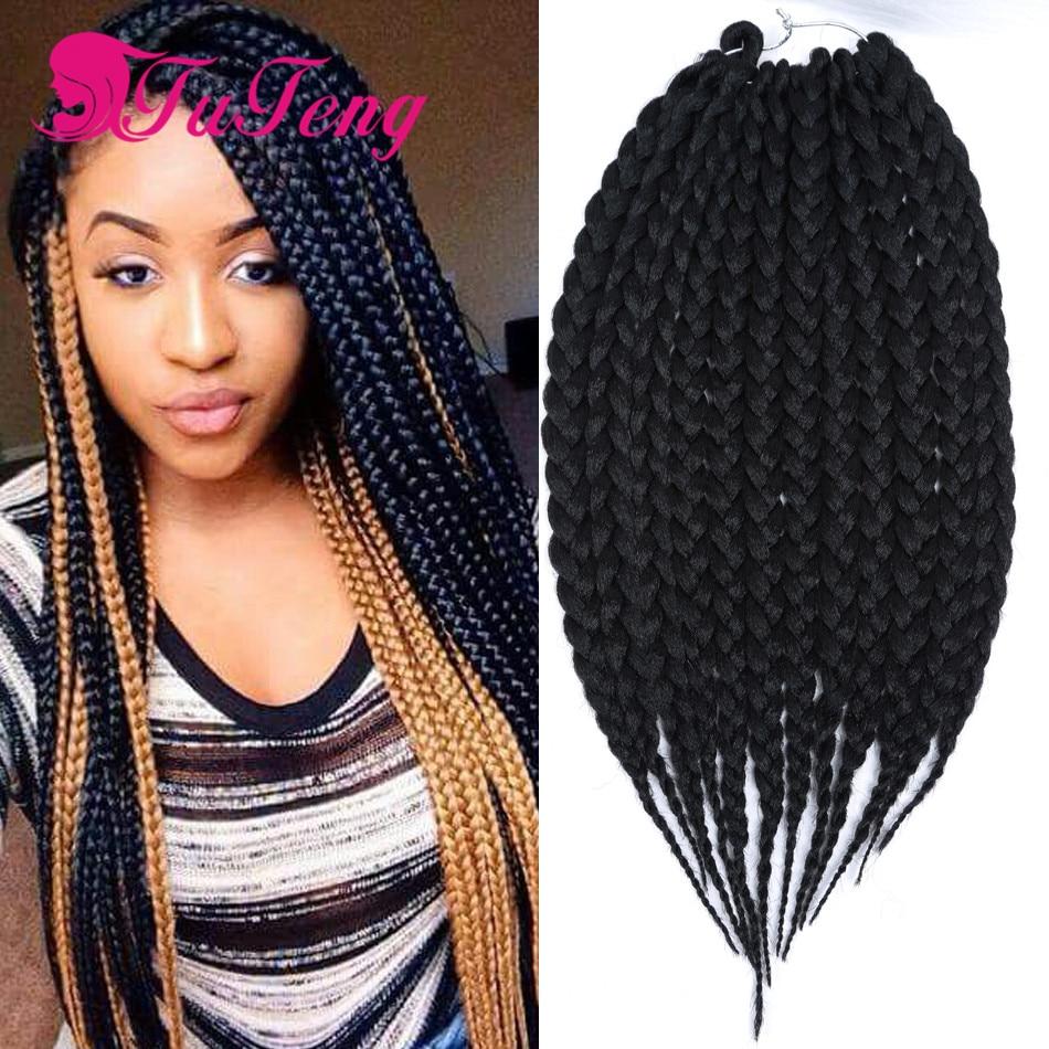 top box braids hair extension 12 14 inch cheap box braids crochet