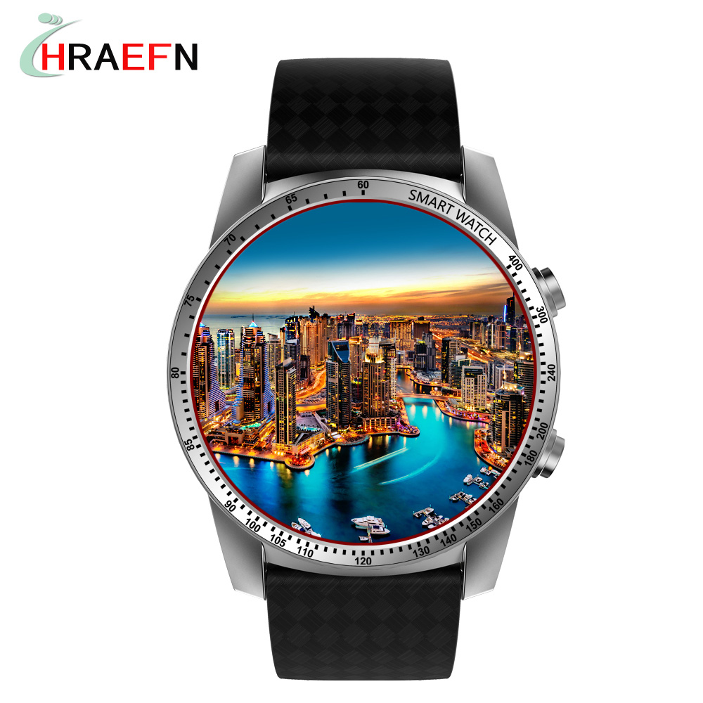 Hraefn KW99 Smart Watch Bluetooth Smartwatch Android 5.1 Watch Phone Sports Tracker Heart Rate 3G SIM Wifi PK X200 KW88 Z10