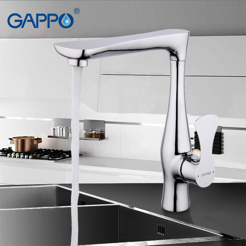 GAPPO Chrome Kitchen Faucet Mixer Cold Hot Deck Mounted Kitchen Sink Tap Single Handle Filtered Water
