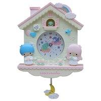 Novelty 12 Inch Cartoon Hello Kitty My Melody Swing Kids Girls Wall Quartz Clock Home Decor Bedroom Cartoon Wall Clock Z039