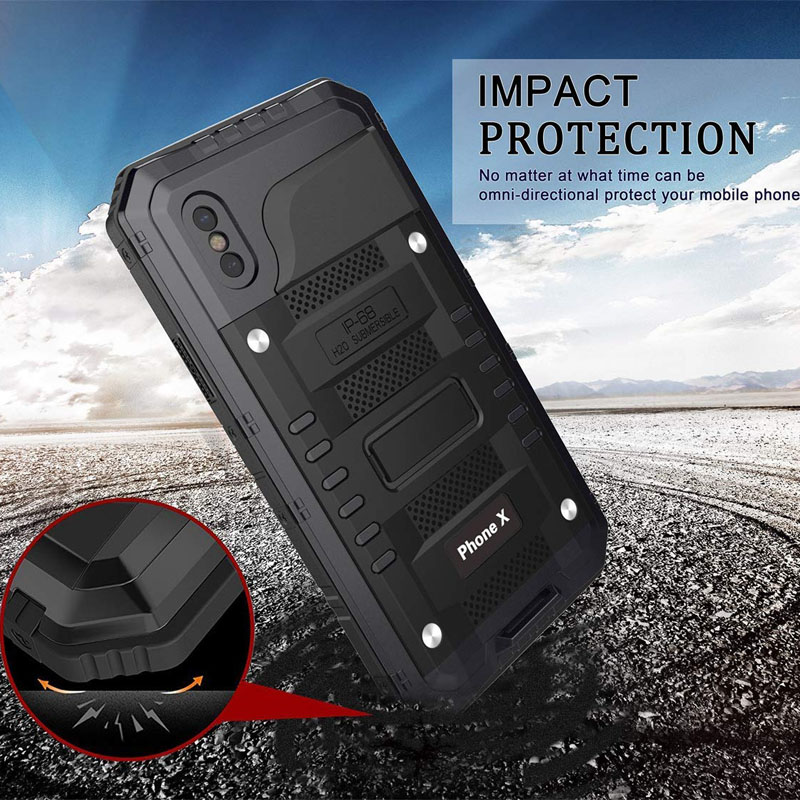 Ascromy-For-iPhone-X-Case-Heavy-Duty-Rugged-Armor-Defender-Cover-For-iPhone-X-10-8-7-6-6S-Plus-IP68-Waterproof-Shockproof-Coque (15)