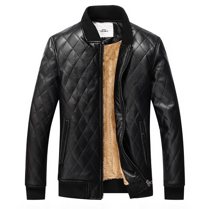 2017 sıcak erkekler sıcak deri ceketler motosiklet ceket rüzgar - Erkek Giyim - Fotoğraf 1