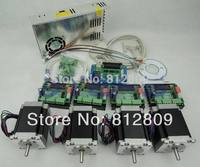 CNC kit 4 axis controller kit, 57 78mm 3A stepper motor + CNC 3 Axis TB6560 Stepper Motor Driver +250W Power supply