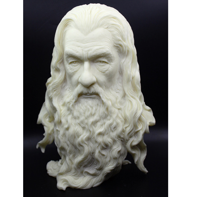 The Lord Of The Rings The Hobbit The Witcher Gandalf Creative Colophony Crafts Head Portraits Sculptures Home Decoration G905 new women elegant white dress up clothes lord of the rings the hobbit lady galadriel cosplay costume fariy dress customized